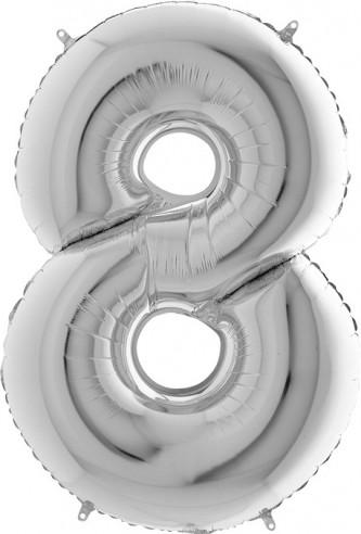 Baloane figurina cifra 8 dimensiune 100 cm