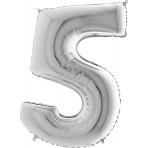 Baloane figurina cifra 5 dimensiune 95cm