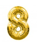 Baloane figurina cifra 8 gold dimensiunea 100 cm