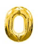 Baloane figurina cifra 0 gold dimensiunea 100 cm
