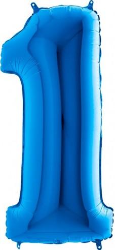 Balloons figurine figure 1 blue size 95 cm