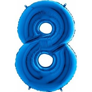 Baloane figurina cifra 8 blue dimensiunea 100 cm