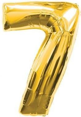 Balloons figurine figure 7 gold size 95 cm