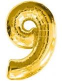 Baloane figurina cifra 9 gold dimensiunea 100 cm
