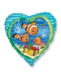 Foil balloons 45 cm Clownfish Birthday