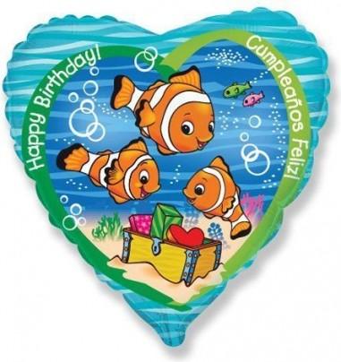 Baloane folie 45 cm Clownfish Birthday