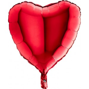 Foil balloons 45 cm simple red heart