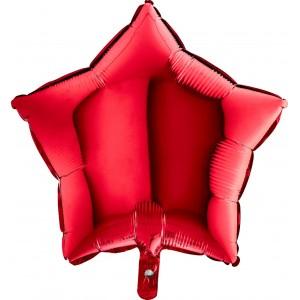 Baloane folie 45 cm simple stea rosie