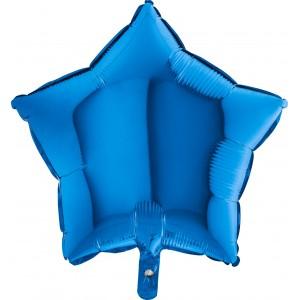 Foil balloons 45 cm simple blue star