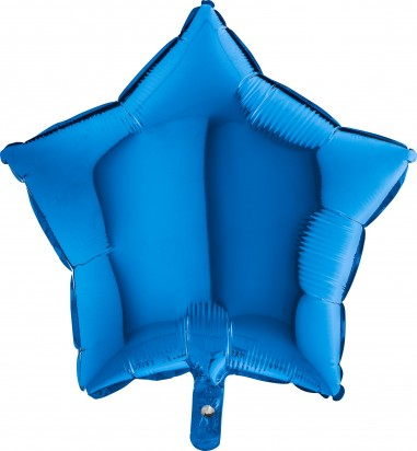 Baloane folie 45 cm simple stea albastra