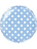 Baloane folie 45 cm albastre cu buline