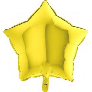 Baloane folie 45 cm stea galbena