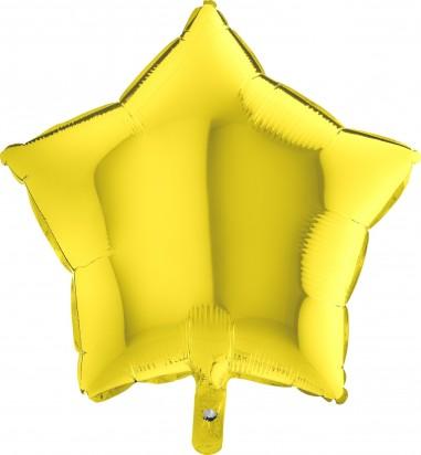 Foil balloons, 45 cm yellow star