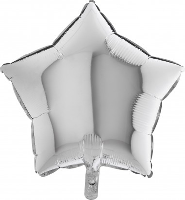 Baloane folie 45 cm stea argintie