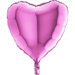 Foil balloons 45 cm SIMPLE PINK HEART
