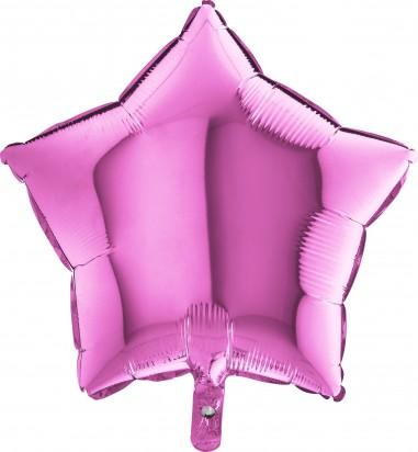 Baloane folie 45 cm SIMPLE STEA ROZ