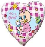 Baloane folie 45 cm GIRL ALPHA