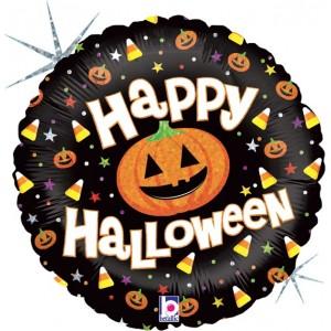 Baloane folie 45 cm Happy halloween