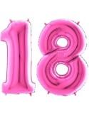 Baloane cifra 18 fuchsia 101 cm