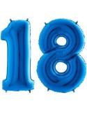 Baloane cifra 18 blue 101 cm
