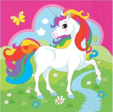 20 Servetele Unicorn 33x33 cm