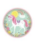 8 Farfurii Unicorn 23 cm