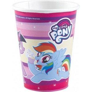 8 Pahare My Little Pony 250 ml