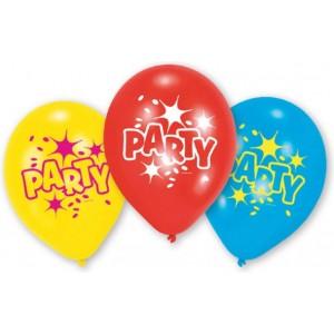 6 Latex baloane Party 23 cm