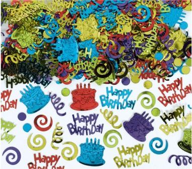 Confetti Happy Birthday Foil Multi Colour 141 g