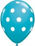 Balon latex turcoaz cu buline 30cm