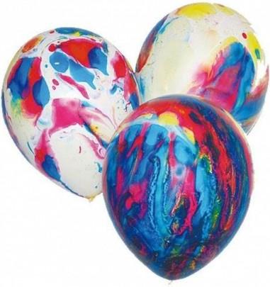 Baloane marmorate din latex 30 cm