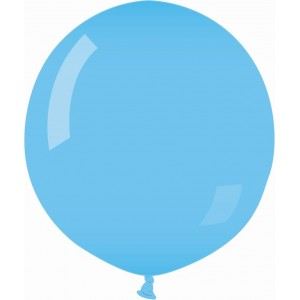 Balon latex jumbo 80 cm albastru deschis