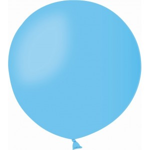 Balon latex jumbo 45 cm albastru deschis