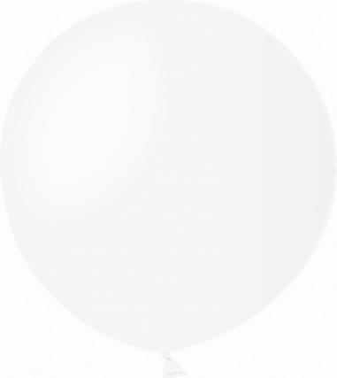 Balon latex jumbo 45 cm alb