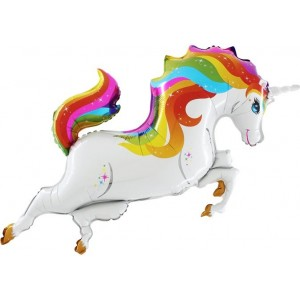 Balon folie figurina Rainbow-Unicorn 110cmx50cm