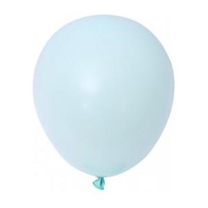 Balon latex pastel(macarons) 13 cm albastru