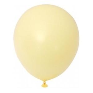 Balon latex pastel(macarons) 13 cm galben