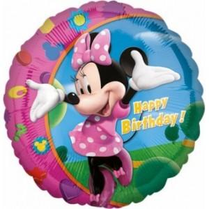 Balon folie 45 cm Minnie Happy Birthday
