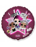 Balon folie 45 cm rotund LOL Star