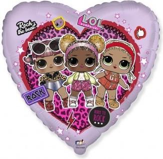 Balon folie 45 cm inima LOL