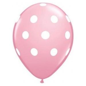 Balon latex roz deschis cu buline 30cm