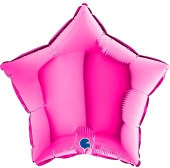 Baloane folie 45 cm stea magenta