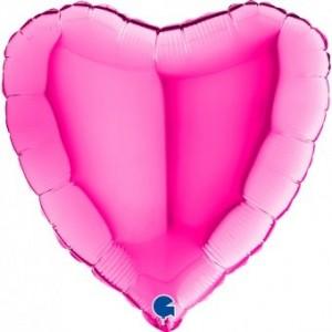 Baloane folie 45 cm inima magenta