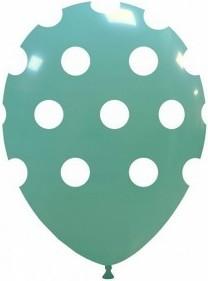 Balon latex aqua cu buline 30cm