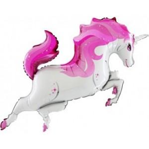BALON FIGURINA Rainbow-Unicorn-Body-Pink 110CMX50CM