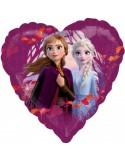 Balon folie 45 cm Standard Frozen 2 inima