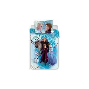 Lenjerie patut Frozen (100×135 cm, 40×60 cm)