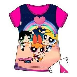 Tricou Powerpuff Girls roz