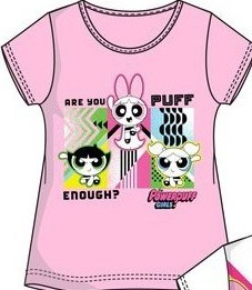 Tricou Powerpuff Girls roz deschis