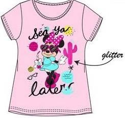 Tricou Minnie roz deschis